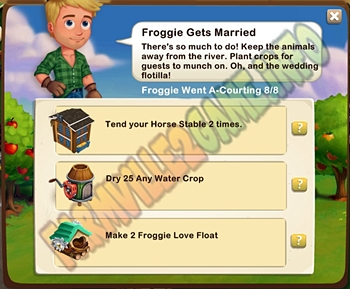 Farmville 2 Froggie Gets Married