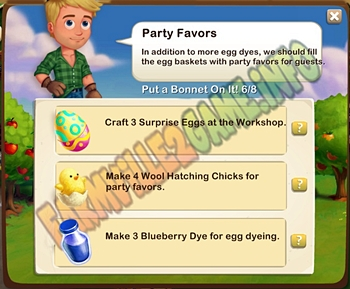 Farmville 2 Party Favors