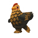 Gold-Laced Cochin Chicken