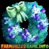 Blue Holiday Wreath