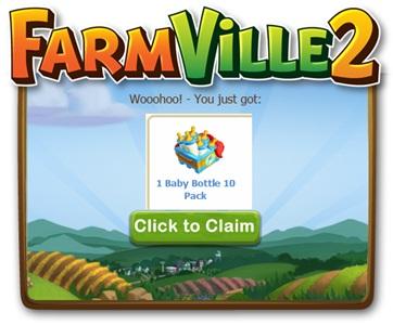 FREE Farmville 2 Baby Bottles