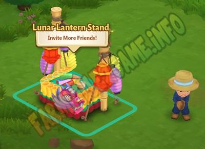 Lunar Lantern Stand actual photo in farm