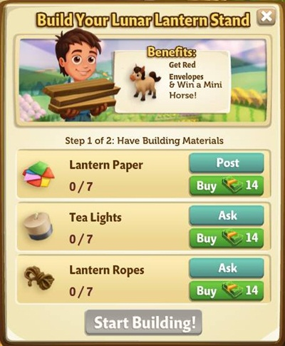 Lunar Lantern Stands Parts and Materials Lists