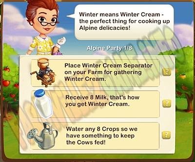 Farmville 2 Winter Cream is Coming