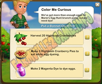 Farmville 2 Color Me Curious