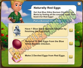 Farmville 2 Naturally Red Eggs